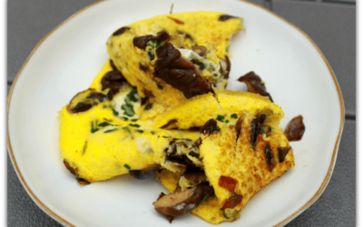 Hearty mushroom and coriander omelette