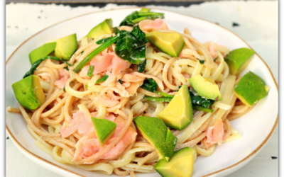 Smoked salmon with creamy citrus pasta