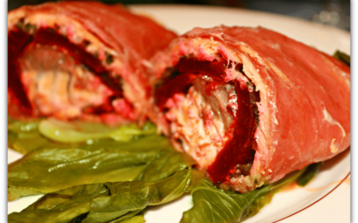 Salmon, Parma Ham and Beetroot Wrap