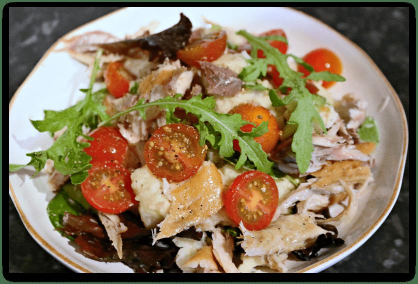 Mackerel on Crushed Potatoes